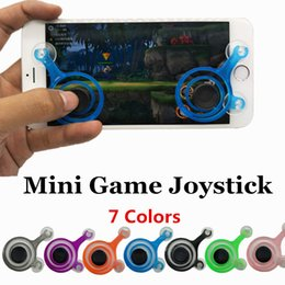 Wholesale Arcade For Xbox - Mobile joystick Mini Game Controllers 7 Color for iPhone 6 7 S Plus & xiaomi tablet Arcade Games Dual Analog Game Rocker