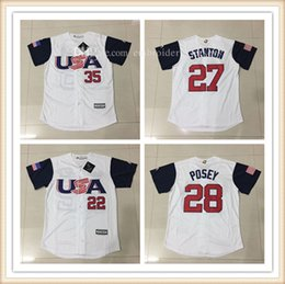 Wholesale Andrew Mccutchen Jersey - Men's USA Baseball Andrew McCutchen,Giancarlo Stanton,Buster Posey,Eric Hosmer Jerseys 100% Stitched 2017 World Baseball Classic T-Shirt