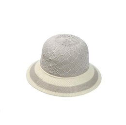 Wholesale Old Top Hat - Free shipping New hat spring and summer hollow hat lady sunscreen sunshade cap in the old knitted straw hat WMB001