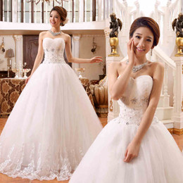 modernos vestidos de novia de la boda aline strapless atractivo blanco de la