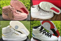Wholesale Quai 54 - Jumpman Team 2 II GS Retro 2 Men Basketball Shoes Sneakers 2s AAA Beach Quai 54 Pink Run Sports Trainers Boosts Basket Ball Shoes Boots