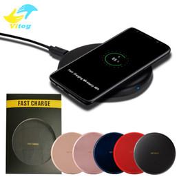 Беспроводное зарядное устройство для галактики mini онлайн-S8 Mini Высокое качество Быстрая QI Беспроводное зарядное устройство Беспроводное зарядное устройство для Samsung Galaxy Note10 NOTE9 / S9 / S9 + / S8 / S7 / S6 Край IP8 X XR XS MAX