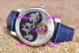 2020 luxo relógio homens azul rosto Top Brand New Mens Luxury Automatic Watch Stainelss Genghis Khan Tourbillon Black Blue Face Leather Strap For Men Mechanical Wristwatch Sale luxo relógio homens azul rosto barato
