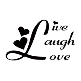 Wholesale Laugh Decor - Hot Sale Car Styling For Live Laugh Love Funny Car Decal Jdm Sticker Art Vinyl Graphics Accessories Decor