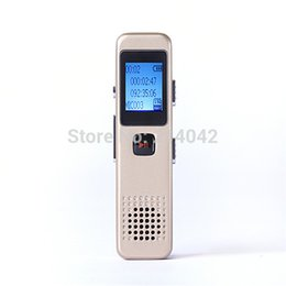 Wholesale Free Dictaphone - Wholesale- 8GB Mini USB VOR Rechargeable Digital Audio Voice Recorder 650Hr Dictaphone MP3 Player golden & Black Free Shipping