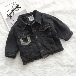 Wholesale Jean Jackets 5t - 2017 New Arrival Baby Boys Denim Thicken Coat Winter High Quality Fashion Kids Jean Jackets J106