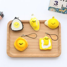 Wholesale Soft Toys Patterns Free - Mix Patterns Cute Egg Yolk Design Cell Phone Strap Charms Soft PU Foam Phone Bag Charms Fashion Toy Wholesale 100PCS Free shipping