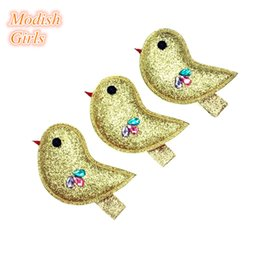 Wholesale Crystal Hair Clip Children - Modish Girls 2015 Glitter Bird Hair Clips Bestseller Animals Design Barrettes Lovely Crystal Animals Children Jewelry Hairpins