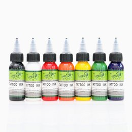 Wholesale Tattoo Supplies Low Prices - Low Price Tattoo Supply Complete Set of 7 Colors Tattoo Ink 1OZ(30ml) Bottle Ink Pigment