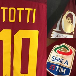 Wholesale Patch Player - 2017 Match Worn Player Issue Totti Last match Game Soccer Patch Badge Fabric and Sewing