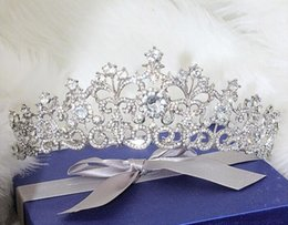 Wholesale Wedding Tiaras Free Shipping - Snow Queen Crown Tiaras Wedding And Party Hair Jewelry 2017 New Style Free Shipping Best Selling