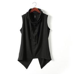Wholesale Vest Turtleneck - Wholesale- Original Design Men's Turtleneck Collar Unique Fashion Vest for Costume Dancing Brand Slim Fit Casual Waistcoat 2016