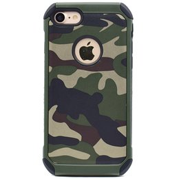 Wholesale Cell Combo - Camouflage Hybrid Combo Protective Hard Case Cover For iPhone 5 5S 6 6S Plus iPhone 7 Plus Cell Phone Accessories