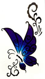 2019 farfalla di henné 10 pezzi in 500 tipi impermeabili temporanei falsi tatuaggio tatuaggio henna adesivi Taty tatto Blue merletti Butterfly SYA067-10PC q0515 farfalla di henné economici