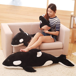 Wholesale Orca Whale - Killer whale doll pillow whale Orcinus orca black and white whale plush toy doll shark kids boys girls soft toys