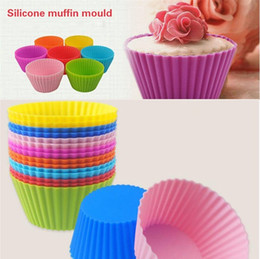 Wholesale Cup Cake Trays - Newest Bakeware Round shape Silicone Muffin Cup cake Mould Bakeware Maker Mold Tray Baking Cup Liner Baking Molds B0105