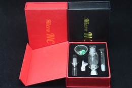 Wholesale Honey Boxes Wholesale - 2016 Nectar Collector With Showerhead Perc Mini Honey Dab Straw Mini Dab Rigs with Gift Box Grade 2 Titanium Nail 10mm NC01