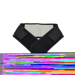 Wholesale Tourmaline Self Heating Lumbar - Wholesale- Lumbar Support Belt Adjustable Tourmaline Self-heating Magnetic Therapy Back Waist Brace Belts Thermal Protection Double Banded