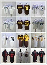 2017 johnny manziel jerseys Men's San Diego Padres Jersey 27 Matt Kemp 2 Johnny Manziel 31 Dave Winfield 19 Tony Gwynn Maillots de baseball Maillot de couture Top qualité johnny manziel jerseys promotion