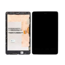 Wholesale Galaxy Nexus Lcd - Wholesale-Black Top quality touch screen digitizer lcd display assembly For Asus Google Galaxy Nexus 7 ME370 Full Wifi Version with Frame