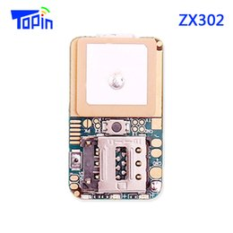 Wholesale Vehicles Mercedes Benz - ZX302 PCBA Board Mini GSM GPS Tracker Module MTK2503 Locator Real Time Tracking SMS Position Geo-Fence for Children Pets Car Vehicle Hidden