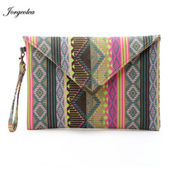 Wholesale Chinese Wholesale Clutch Bags - Wholesale-3 Colors Chinese Style Printing Fashion Women Clutches Canvas Day Clutch Handbag Envelope Bag Free Shipping