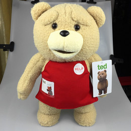 Wholesale Doll Gif - 2017 40cm TED bear Cartoon Movie merchandise Plush Toys Soft Stuffed Animals Ted Bear Plush Dolls kids Birthday Gif Baby Toys For Children