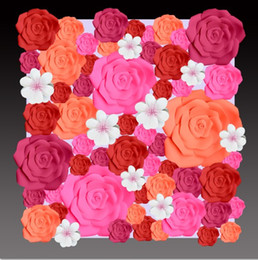 Big paper flowers wholesalers australia new featured big paper 56pcs different sizes combination foam paper big rose flowers mix flowers for wedding background decorations wedding backrops mightylinksfo