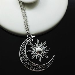 Wholesale Party Fire - Europe and the United States Necklace movie of ice and fire around my life the moon, the sun and stars pendants alloy necklace