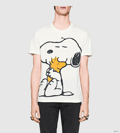 Wholesale Dog Cooler - men's lastest 2017 fashion brand short sleeve dog printed t-shirt funny tee shirts Hipster O-neck cool tops Unisex U10A