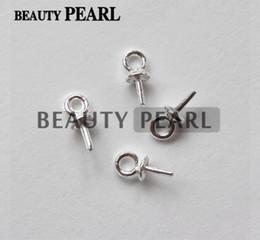 Wholesale 100 pièces en gros perles connecteurs d extrémité pour charmes perles bricolage résultats perles en argent sterling chapeaux
