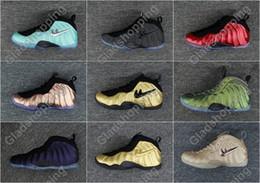 Wholesale Copper Rubber - Air Pro Island Green Vachetta Tan Penny Hardaway Men Basketball Shoes Sneakers Cheap One Shine Metallic Gold Red Copper Eggplant Sports Shoe