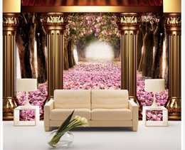 Wholesale Popular Live - Custom any size Popular luxury 3D stereo aristocratic TV backdrop wallpaper for walls 3 d for living room