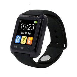 Wholesale Kids Wear Wholesale Korean - U80 Bluetooth Smartwatch for iPhone IOS Android Smart Phone Wear Clock Wearable Device Smart Watch 3 Colors