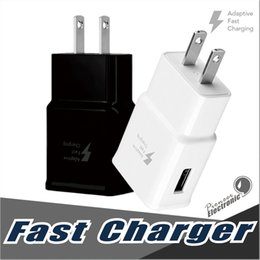 Wholesale Eu Uk Travel - Fast Charger QC 2.0 5v 2A Adapter Fast USB Wall Charger UK EU US Plug Travel Universal For Galaxy S8 S7 Edge S6 S6 Edge