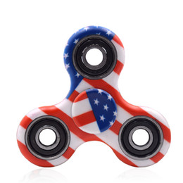 Wholesale 24 Spinners - 24 colors New camo colorful Fidget Spinner toy Hand triangular spinner Toy For Decompression Anxiety Toys with retailed box Free fast DHL