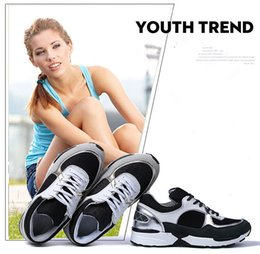 Wholesale Ladies Tops Design Lace - New Arrival High Top Quality Design Luxury Famous Brand Classic Elegant Ladies Increased Genuine Leather Casual runner travel shoes
