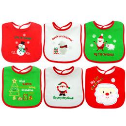 Wholesale Christmas Baby Bibs Burp Cloths - Christmas baby Bib Burping Towels Cloths Baby Boys Girls Bibs Newborn Clothes Kids Bib Baby Gifts Infant Burp Cloths