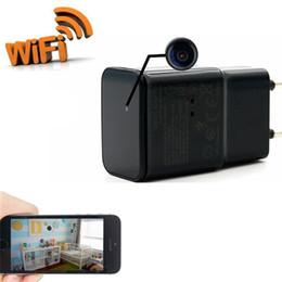 Wholesale Mini Usb Wireless Video Camera - Mini Wireless WIFI P2P Network HD 1080p USB AC Plug Adapter Covert Spycam Mini DVR Hidden Camera Surveillance Video Recorder