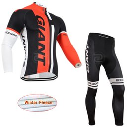Terno raça gigante on-line-Team giant Cycling Jersey Sets Winter thermal Fleece Ropa Ciclismo hombre Quick Dry Cycling Suit Bicycle Racing Clothing H040920