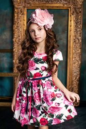 Wholesale Western Belt Wholesalers - 2017 new baby clothes wholesale Everweekend Girls Ruffles Floral Print Backless Dress Cute Baby Summer Western Fashion Party Dress+belt