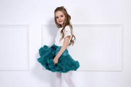 Wholesale Cheap Baby Girls Tutus - Baby Girls Tutu Skirt Fluffy Children Ballet Kids Pettiskirt Baby Girl Skirts Princess Tulle Party Dance Skirts For Girls Cheap