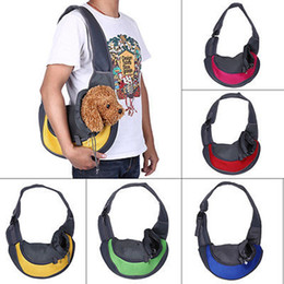 Wholesale Dog Carrier Tote Bags - Pet Dog Cat Puppy Front Carrier Mesh Comfort Travel Tote Shoulder Bag Sling Backpack Comfortable Dog Carrier Backpack YYA433