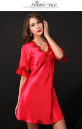 Tissu de haute qualité en soie imitée de luxe Chemise de nuit pour femme Chemise de nuit pour femme Sexy Pyjama Peignoir M L XL XXL ? partir de fabricateur
