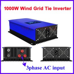 Wholesale Inverter Tie Wind - 1000w free shipping 3 phase ac input to ac output 190-260v grid tie wind inverter with dump load controller resistor