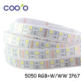 Wholesale Tape Leds Free Shipping - Wholesale-DC12V SMD 5050 RGBW flexible LED strip,Double row 120 LEDs meter,IP67 waterproof RGBW LED strip light,tape,free shipping