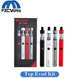 Wholesale Original Kanger Evod Starter Kit - Original 100% Kanger Top Evod Kit Vape Pen 1.7ml with 650mAh Battery 4 Colors Starter Kit By KangerTech