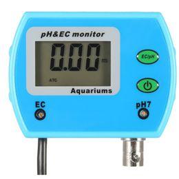 Wholesale Online Testers - Wholesale- wholesale 2 in 1 Tester pH tester for Aquarium Multi-parameter Water Quality Monitor Online pH   EC Meter Acidometer