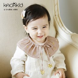 Wholesale Scarves Girls Baby Bow - New Cute Baby Children's Accessories False Collar Star Bow Tie Princess Girls Decorated Collar Bowknot Can Move Party Girl's Clothing A5904