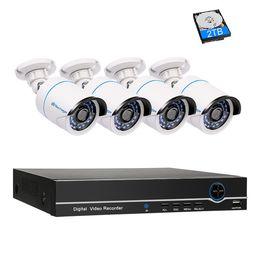 Wholesale Cctv Casing - 8CH 1080P POE NVR CCTV System Kit 2.0MP Indoor Outdoor Metal Case IP Camera Weatherproof IR Day Night P2P Security Kit